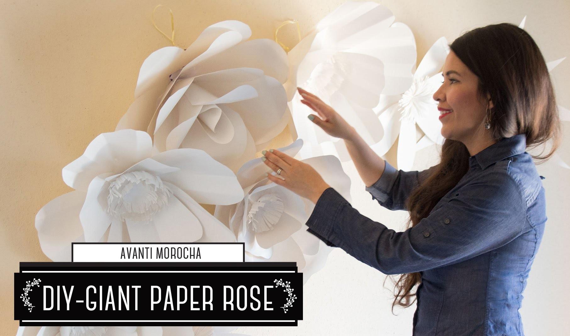 "DIY How to Make a Paper Flower Backdrop ""Rose"". Como Hacer un Mural de Flores de Papel ""Rosa"""