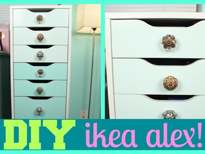DIY Ombre Ikea Alex Drawers Makeup Storage Tutorial!
