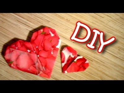 DIY Origami Heart - Paper Heart With Pocket For Present