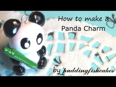 DIY Panda Polymer Clay Charm Tutorial