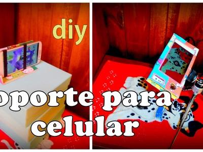 Diy:soporte para celular (peticion) 3 opciones Mobile support for recycling
