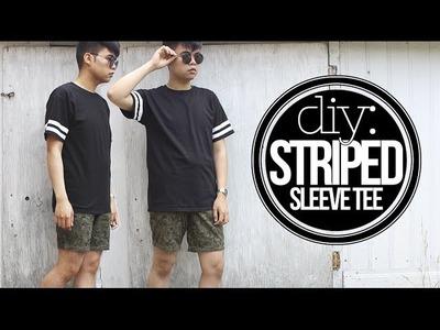 DIY: Striped Sleeve Tee