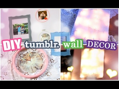 DIY Tumblr Wall Decor