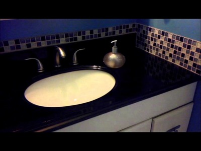 DIY: Update Bathroom Vanity Granite Counter top (Easy & Affordable)