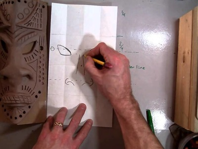 Drawing the design for an African Style Mask (Part 1.7).MOV