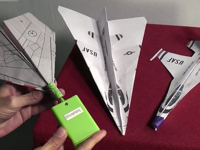 Electric Paper Airplane Kit Review-Plus Free F16