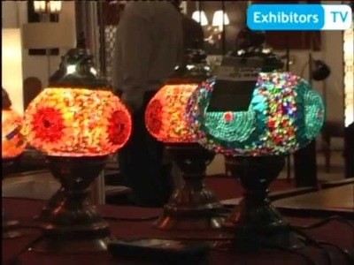 Gulhane's Turkish Hand Crafted Mosaic Lamps & Chandeliers (Exhibitors TV @ Furniture Show 2013)