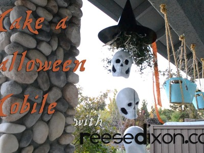 Halloween Crafts: Make a Witch and Skulls Mobile