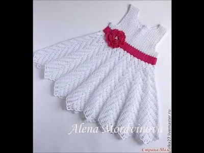 How to crochet kid's childrens girl dress