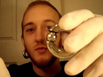 How to insert large gauge captive bead rings and segment rings, body jewelry, ear stretching