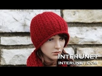 How to knit a hat - double braid stitch