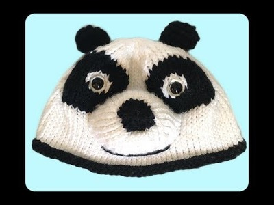 How to Knit Panda Hat Step by Step Tutorials (Part 1: The Hat)
