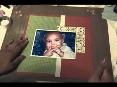 How to Make a 10 Minute Scrapbook Layout