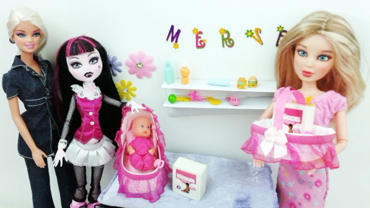 How to Make Doll Bassinet and Basket - Recycling - Doll Crafts