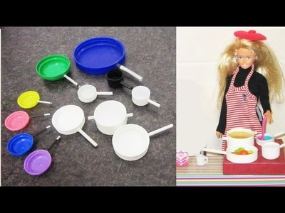 How to make doll size pots and pans - Doll Crafts