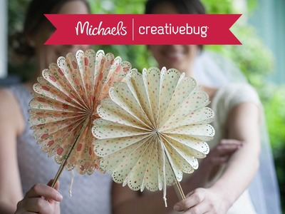 How To Make Paper Fans | Class Preview