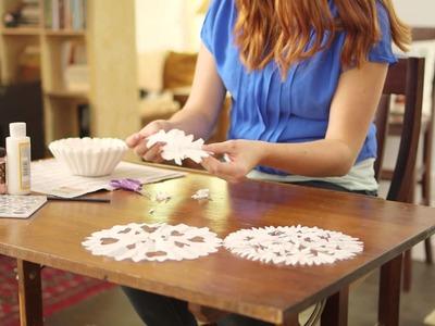 How to Make Snow Flakes from Coffee Filters   Voice Instructions