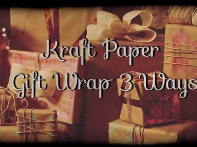 Kraft Paper Gift Wrap 3 Ways - HGTV - Weekday Crafternoon