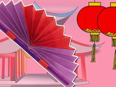Learn how to make a Chinese Fan | Easy DIY Paper Fan Craft | Summer & Spring Decor.Crafts