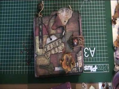 Mini  scrapbook album Lost and found Tim holtz