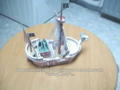 "One Piece ""Going Merry"" papercraft model"