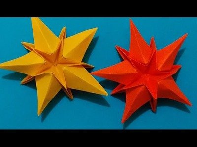 Origami Star. House decorations. Ideas for Easter. Украшение для дома - декор