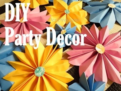 Paper Flower Party Decor (DIY)