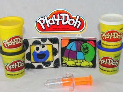 Play-Doh Cookie Monster and Play Doh Turtle Make 'N Display Create-a-Frame Play Doh Picture Frame