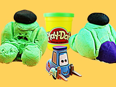Play-Doh Superheros The Hulk Tutorial DIY Play Doh Disney Cars Toy Guido The Incredible Hulk