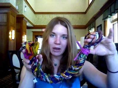 Reclaimed Silk Curtain Tie Backs Made Easy - How To - Darn Good Yarn