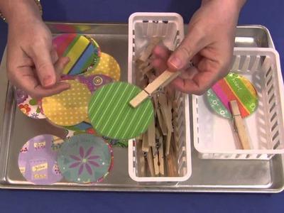 Scrapbook Paper Match and Clip