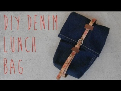 SEWING TUTORIAL :: DIY Denim Lunch Bag