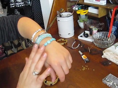 Sexy stretchy boutique style bracelets - diy!