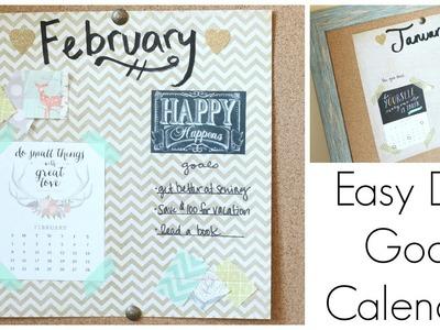 Simple DIY Goal Calendar: Back to Budget Basics