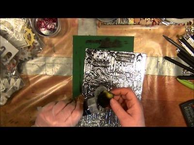 Tutorial - faux metal technique - scrapbooking - falsk metallteknik