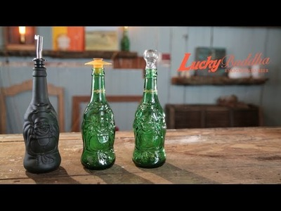 Upcycled Beer Bottle Containers || Lucky Buddha Beer Crafts