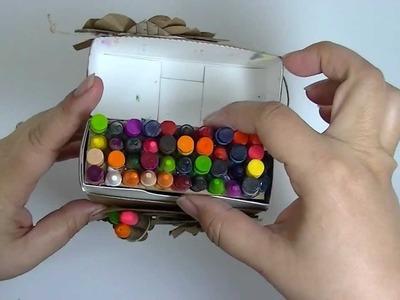 Vintage Crayon Box Mini Album Scrapbook