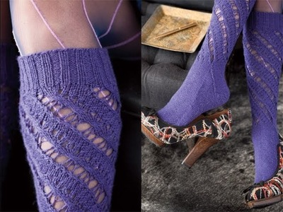 #22 Knee Socks, Vogue Knitting Winter 2011.12