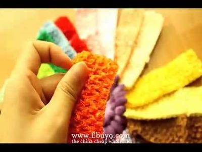 24 Lot crochet headbands baby girl hair bow