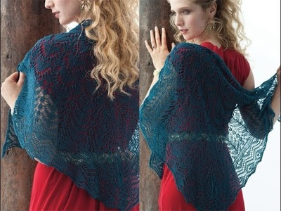#6 Turquoise Lace Shawl, Vogue Knitting Holiday 2013