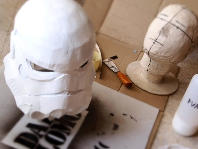 #77: Stormtrooper Helmet DIY Part 3 - Paper-mache, Filler & Ears