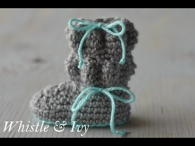 Baby Bubble Boots Crochet Pattern
