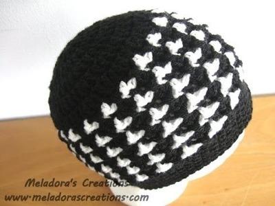 Birds of a Feather Beanie - Left Handed Crochet Tutorial