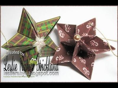 Bonus Tutorial | Origami Star Ornaments