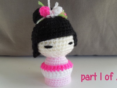 (crochet - part 1 of 2) How To Crochet a Kokeshi Japanese Doll - Yarn Scrap Friday