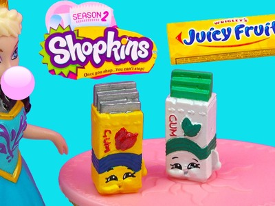 Custom Shopkins Season 2  Wrigleys Juicy Fruit Bubble Yummy Gum DIY Painted Craft Toy