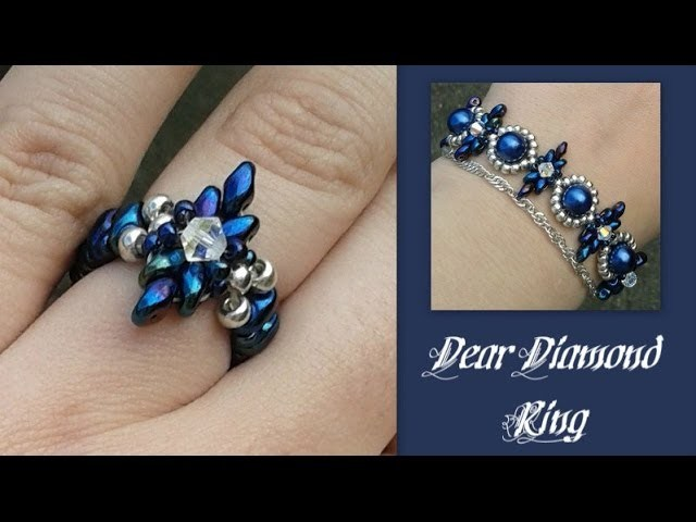 Dear Diamond Ring Beading Tutorial by HoneyBeads1