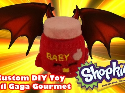 Devil Gaga Gourmet Shopkins DIY Custom Toy - DIY Toy Craft Video
