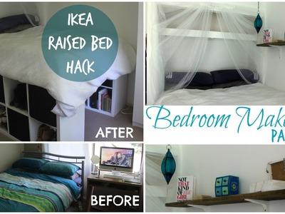 DIY Bedroom Makeover Part 1- Ikea Hack raised bed  | Chelsea Mason