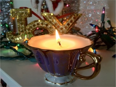 DIY Christmas Gifts: Teacup Candles (Day 9)